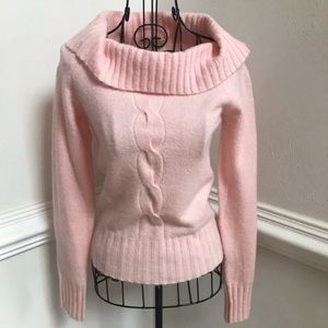 Tommy Jeans Pink Cowl Neck Sweater Size M
